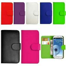 Flip Wallet Leather Book Case Cover Samsung Galaxy Phones Free Screen Protector