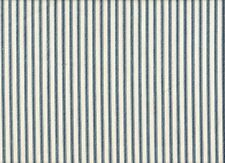 "84"" French Country Ticking Stripe Nautical Blue Fabric Shower Curtain Cotton"