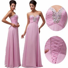 Summer Chiffon Strapless Sequins Bridesmaid Dress Formal Party Gown Long Dresses