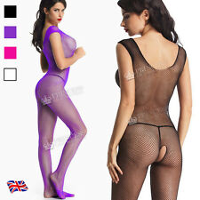 SUMMER SALE-92B-Super hot sexy crotchless bodystockings,large hole,Vest TopS/M/L