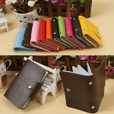 Unisex PU Leather Pocket Pouch ID Credit Card Wallet Cash Holder Organizer Case