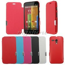 Ultra Flip PU Leather Slim Thin Magnetic Hard Case Cover Shell For Mobile Phone