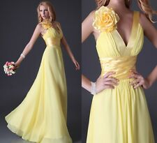 2014 CHEAP Sexy V Neck Prom Long Dress Cocktail Flower Evening Full Dresses Gown