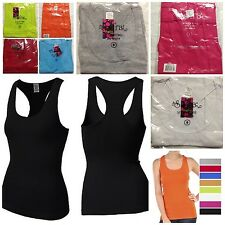 Lot of (8) Women Tank Top racerback 100% Cotton Available in S, M and L