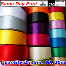 """25mm 1"""" SATIN  Ribbons sewing craft decoration party Many Colours &Lengths1-100m"""