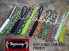 PERFECT PARACORD LANYARD 30 COLORS AVAILABLE W/ BEAD HAND MADE FIT SPYDERCO