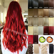 one piece Synthetic straight/curly hair extensions 3/4 Full head clip in