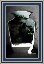 Reusable & Removable Large Wall Decals-Micro Fiber-Asian Scenery Portal View Art