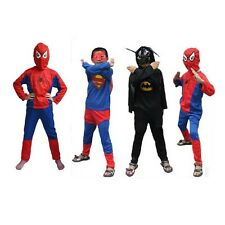 Kid Boy Costume Zorro Superman Batman Spiderman Halloween Party Cosplay Clothes