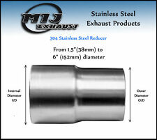 All Size Exhaust Reducer Sleeve Swaged Pipe Adapter Flared Connector Flange Tube