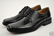 NXT Men's Black Genuine Leather Dress Shoes Lace Up Oxfords Medium(D, M) N2353