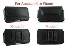 New Horizontal Black Leather Pouch Carry Case Belt Clip Holster for Amazon Fire