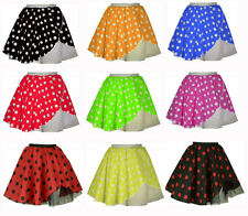 New Style Adults POLKA DOT ROCK AND ROLL 50s SKIRT & SCARF FANCY DRESS COSTUME