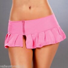 New 5002 Hot Pink PLEATED DANCE ROLLER MICRO MINI Short SKIRT RAVE Sexy S M L