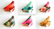 LARGE PRINTED VINTAGE HAIR CLIP CLAW GRIP CLAW CLAMP BUTTERFLY TORT CLIP CLAMP