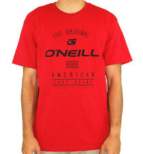 O'Neill Men's Control T Shirt Red  Casual Surfer Streetwear