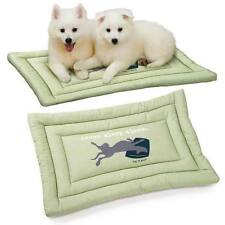 Dog Is Good Never Sleep Alone Crate Mats Easy Care Pet Cushioned Light Green