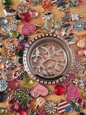 Heart Shaped Origami Owl Floating Charms For Glass Living Memory Lockets