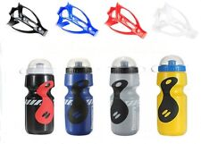 HOT Outdoor Sports Drink Water Bottle Bicycle Cycling Holder Cage Rack Set 750ML
