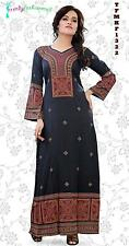 Trendy Kaftan Soft Printed Abaya, Maxi Dress Plus Sizes Small to 6XL -TFMKF1322