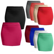 NE PEOPLE Women's Casual Basic Fitted Stretch Bodycon Plain Mini Pencil Skirt