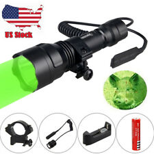 Rechargeable 2000LM CREE T6 Whit /Green LED Tactical Flashlight Torch 18650 Lamp
