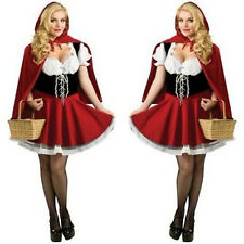 Lovely Little Red Riding Hood Dress Up Halloween Women Costumes Cosplay Outfit