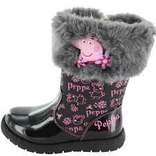 Peppa Pig Studley Boots - Black (Sizes 5,6,7,8,9,10)