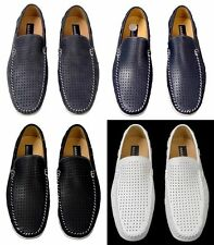 New Men's Masimo Perforated Fashion Casual Driver Shoes Man Made Style 1260