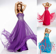 New Beaded Party/Evening/Prom/Cocktail/Pageant dress/Ball gown/Sz 6 8 10 12 14