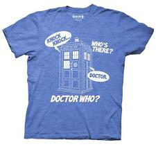 Doctor Who Knock Knock Mens Blue T-Shirt