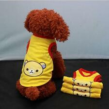 Lovely Yellow Pet Dog Cat T shirt Vest Puppy Bear Print Apparel Clothes XS-XL