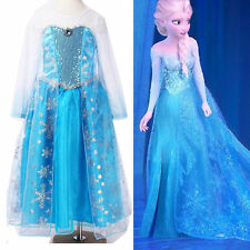 Girl's Dresses Disney Elsa Frozen dress costume Princess Anna party dresses
