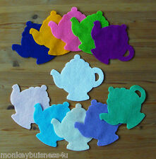 2 or 5 - Felt Die Cuts - Large Tea Pot - Party - Sewing - Applique - Cardmaking
