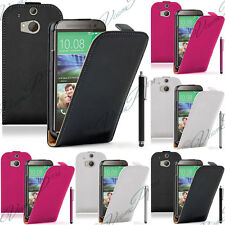 HTC One Mini 2 (M8 Mini) Housses Coque Etui Rabattable Cuir PU Stylet Protection