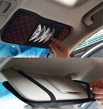 Auto Car Sun Visor CD DVD Disk Card Case Storage Holder Clip Cover Bag