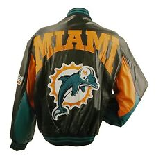 NFL MIAMI DOLPHINS LEATHER BOMBER JACKET L31110MI