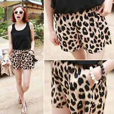 Cool Girls Women's Leopard Print Casual Middle Waist Shorts Pants Trousers S-L