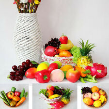 Decorative Large Artificial Fake Fruits Apple Plastic Fruits Home Party Decor