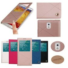 Joyroom Flip Case Leather Skin S-View Cover For Samsung Galaxy Note3 III N9000