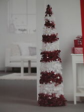 NEW Collapsible Tinsel Sequin Christmas Tree 3 5 or 7 ft Red Silver Green Blue