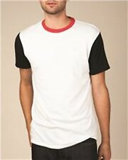 Alternative Apparel Unisex T-Shirts Color-blocked Crew-neck Eco Jersey fabric
