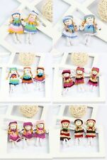 10* Colorful Handmade Fabric Yarn Mini Doll Baby Kids Soft Toy Applique Crafts