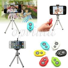 Bluetooth Remote Shutter + Tripod +Holder For Samsung Galaxy S5 S4 S3 Note 4 3 2