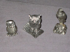 Decorative Eagle Owl Pewter Figurine Birds of Prey Collectible NEW!