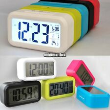Snooze Electronic Digital Clock LED Backlight Alarm Light Control Thermometer