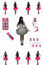 Neon Pink Tutu Accessories Sets Bride To Be 80' Fancy Dress Hen Party FREE SASH