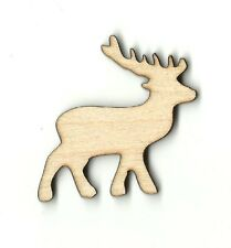 Deer Reindeer Unfinished Wood Shape Craft Supply Variety Laser Cut Out DIY DER47