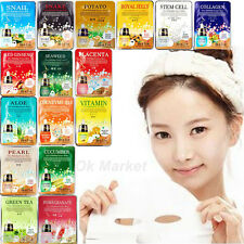Face Mask Sheet Pack Facial Skin Care Moisture Essence Collagen Korean Beauty