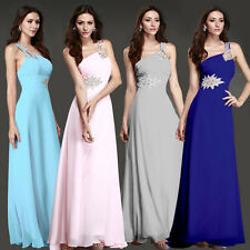 Ball Gown Woman Party Evening Bridesmaid Cocktail Chiffon Formal Long Prom Dress